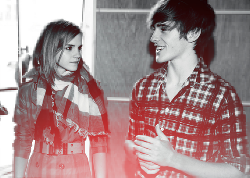 Emma and Alex Watson at Burberry shoot