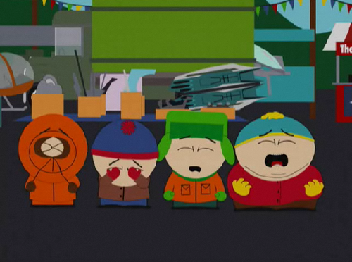South Park wallpaper probably with a sign entitled Everyone's Crying!