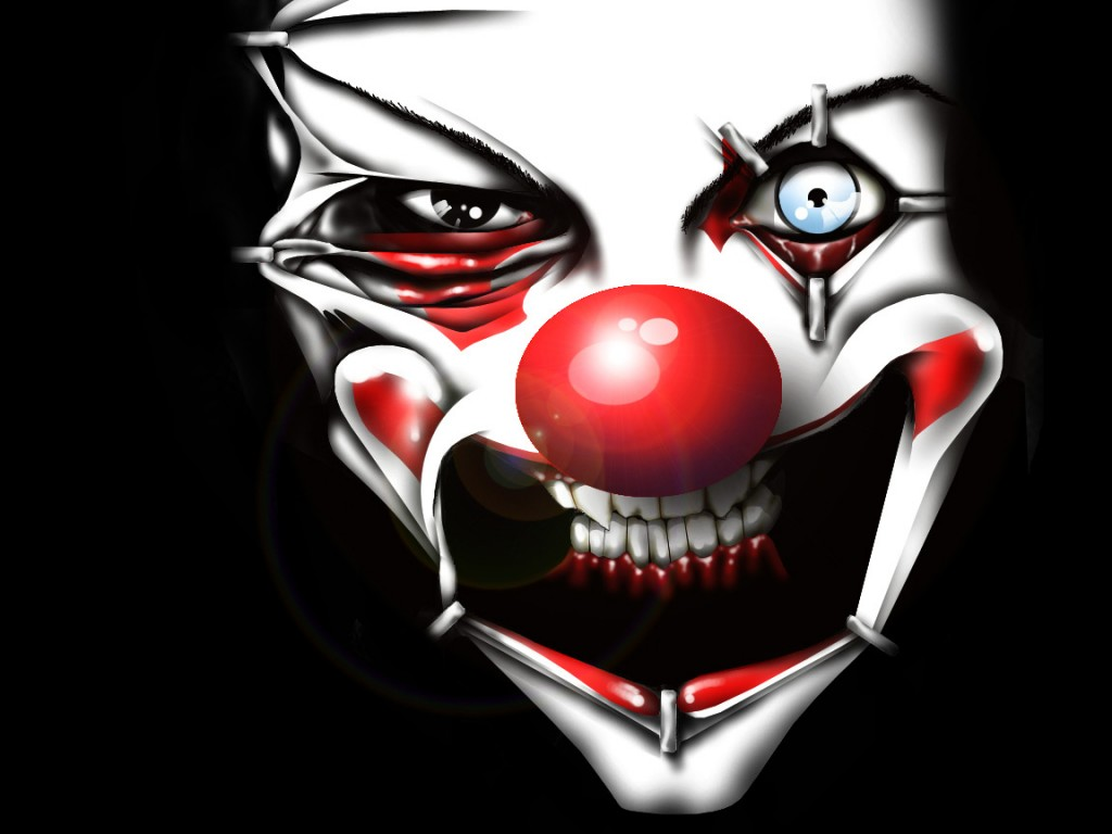 Horror world evil clown