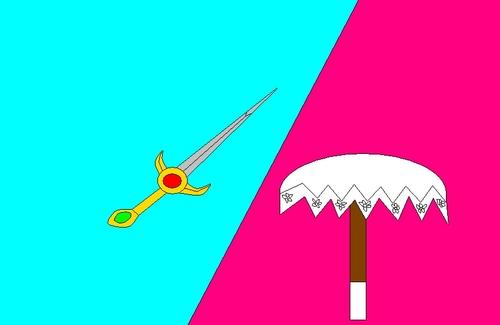 খাঁড়া SwordxPeach Parasol
