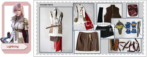 Final pantasiya XIII Lightning Cosplay Costume