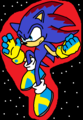 Flying in Space - clank-the-hedgehog photo