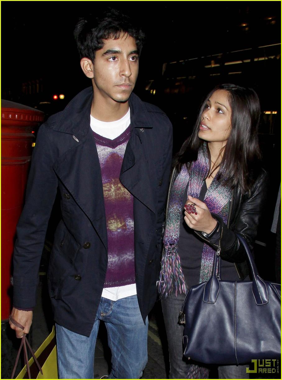 Freida pinto & Dev Patel: lila in London- October 22, 2009