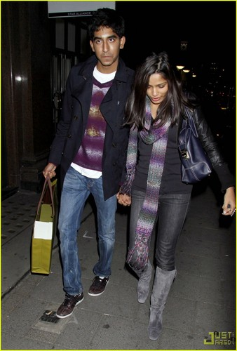 Freida পিন্টো & Dev Patel: বেগুনি in London- October 22, 2009