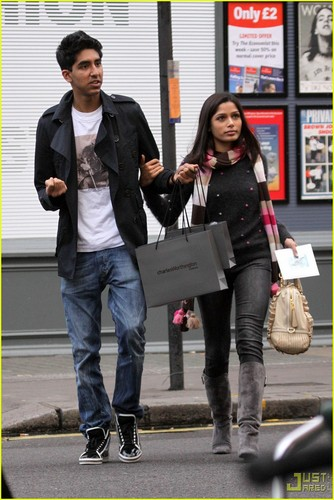 Freida pinto & Dev Patel: Notting Hill- December 1, 2009