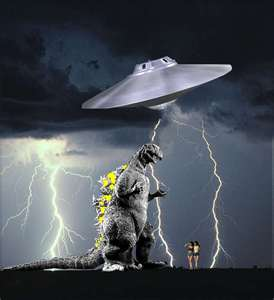 Godzilla Vs. The Mother Ship!