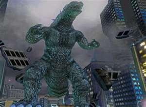 Godzilla is destorying stuff again!