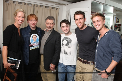 Daniel Radcliffe wallpaper titled HP Cast ,Backstage at How to Succeed in Business Without Really Trying