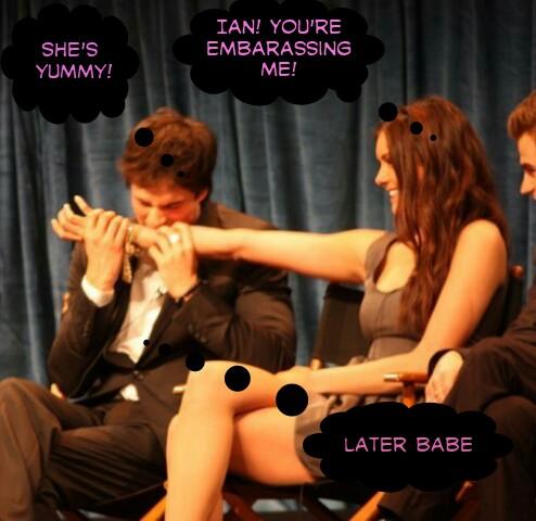 Ian biting Nina