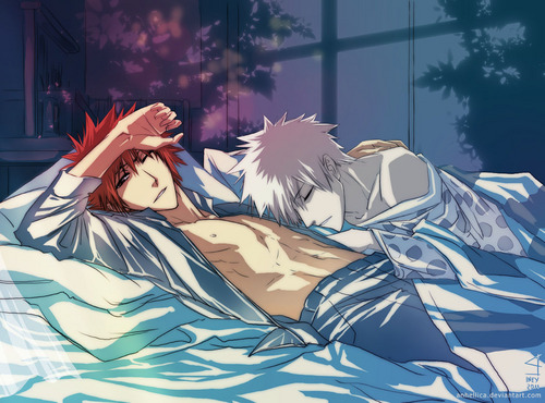 Ichigo and Hichigo - bleach-yaoi Photo