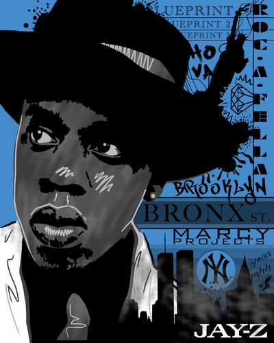 Jay Z wallpaper probably with a fedora and anime titled Jay-Z NY Portrait
