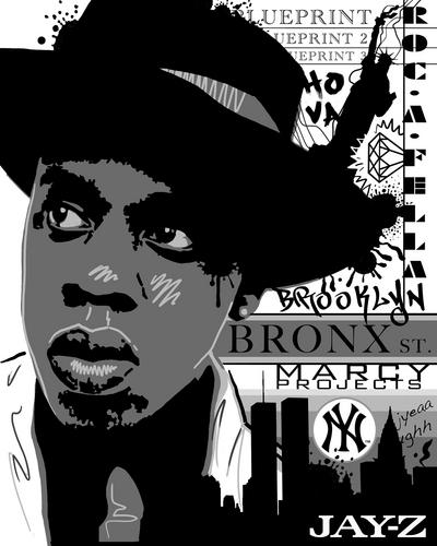 Jay Z wallpaper with anime titled Jay-Z NY Portrait