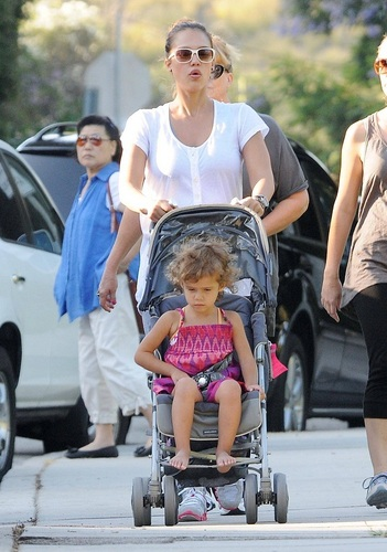 Jessica - At the park in Beverly Hills - July 10, 2011