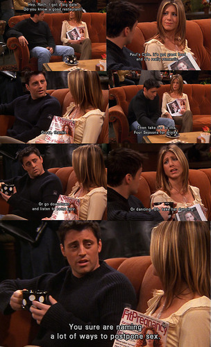 Joey Tribbiani پیپر وال containing a چولی, براسری and a boardroom entitled Joey Tribbiani