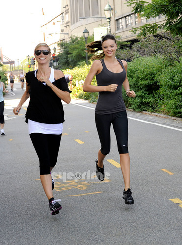 July 9: Running with Miranda Kerr