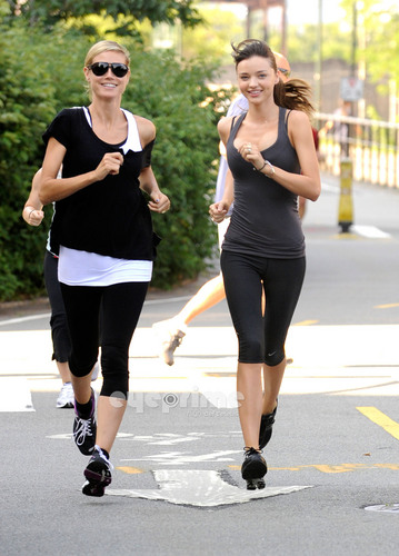July 9: Running with Miranda Kerr
