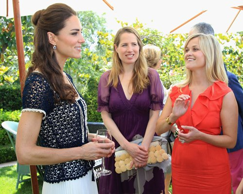 Kate Middleton वॉलपेपर called Kate Middleton & Reese Witherspoon Bond At Tusk's Trust