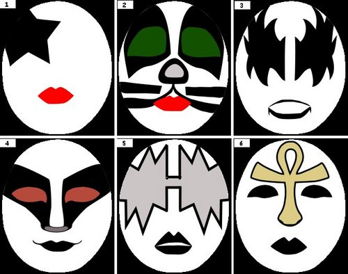 Kiss images kiss logo 39 s wallpaper and background photos for Kiss mask template