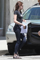 Kristen Stewart getting her passport renewed in van Nuys, CA (July 11).
