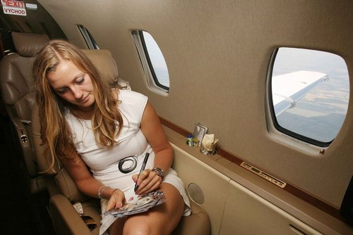 Kvitova airplane