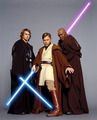 Mace, Obi wan, and Anakin