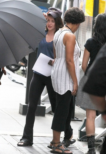 Megan - On the set of The Dictator in New York City - July 11, 2011
