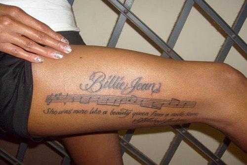 Michael Jackson tatuagens