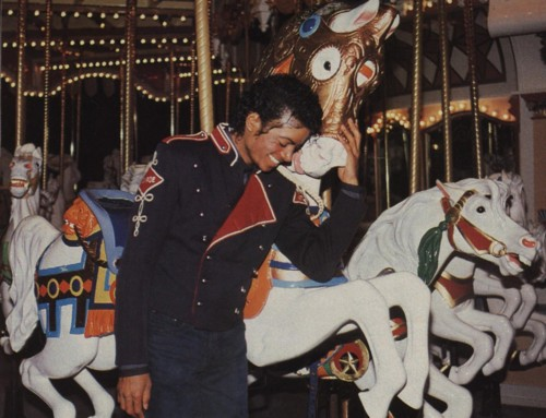 Michael by the carousel