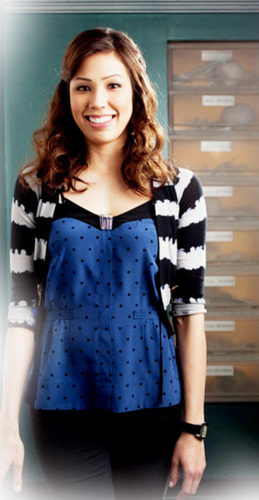 Michaela Conlin wallpaper probably containing a playsuit and a top called Michaela/Angela.