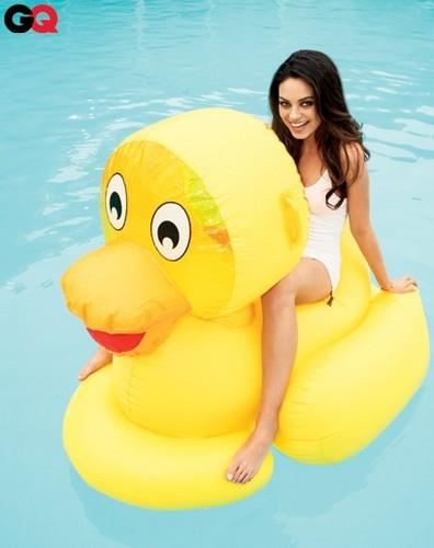 Mila Kunis Cutens Up GQ August 2011