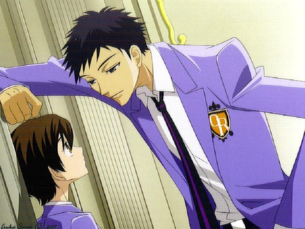 Mori flirting with Haruhi