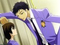 Mori flirting with Haruhi - ouran-high-school-host-club wallpaper