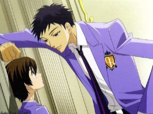 Host Club - le lycée de la séduction fond d'écran entitled Mori flirting with Haruhi