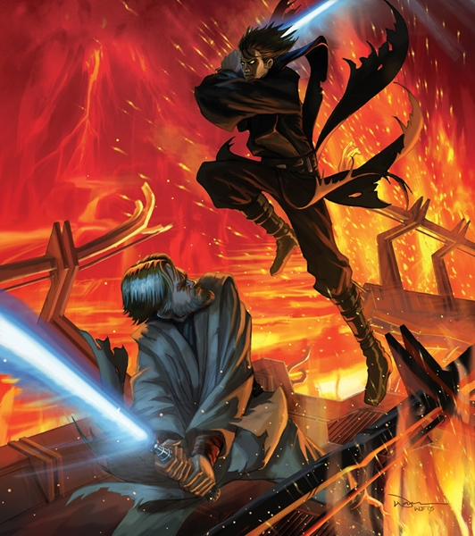 Mustafar Battle Estrela Wars Revenge Of The Sith Fa Art 23604604 Fanpop