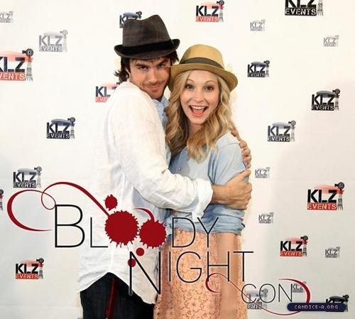 New 'Bloody Night Con' portrait of Candice and Ian!