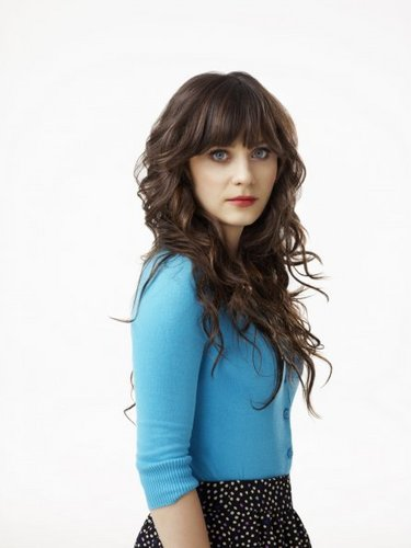 न्यू गर्ल वॉलपेपर probably with tights, a playsuit, and a bustier, बस्टीर called New Girl Cast Promotional चित्रो - Zooey Deschanel as Jess.