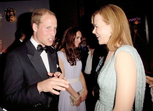 Nicole with Prince William And Kate Middleton at BAFTA Gala