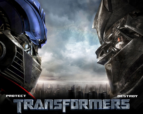 transformers wallpaper possibly containing a jalan, street and a jalur lalu lintas titled Optimus vs Megatron