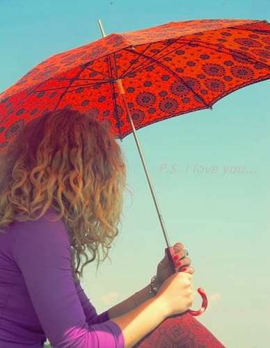 P.S. I Love u achtergrond with a parasol entitled P.S. I Love u | ♥