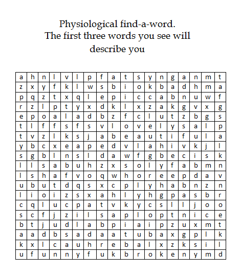 Physiological find-the-word