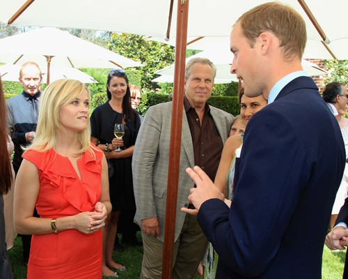 Prince William and Kate Middleton spending time with Reese Witherspoon at the Launch of Tusk Trust's