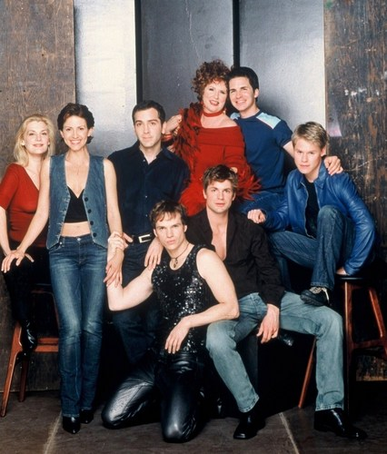 Queer As Folk wallpaper probably with a drawing room, a well dressed person, and a living room entitled QAF HQ