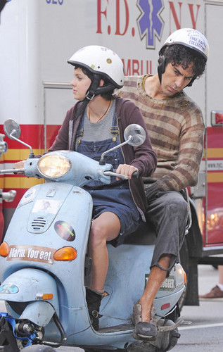 "Sacha Baron Cohen and Anna Faris Film ""The Dictator"" in New York City"