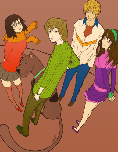 Scooby-Doo wallpaper with anime titled Scooby-Doo - As Anime Characters