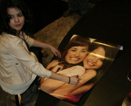 Selena Autographed Princess Protection Program Poster