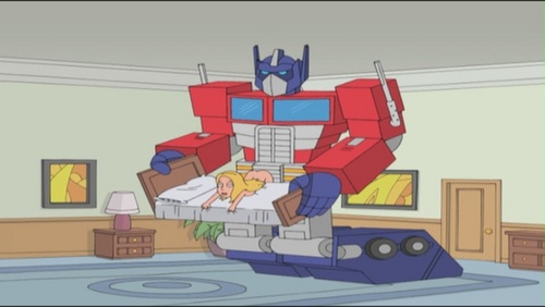 Seth MacFarlane wallpaper with a living room entitled Seth MacFarlane's Cavalcade of Cartoon Comedy ~ 'Sex With Optimus Prime'