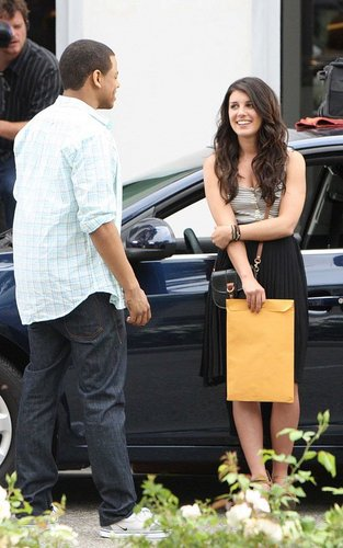 Shenae Grimes on the Beverly Hills set of 90210 (July 11).