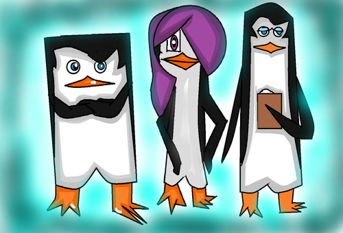 Skipper, Kowalski, and My OC Araisel