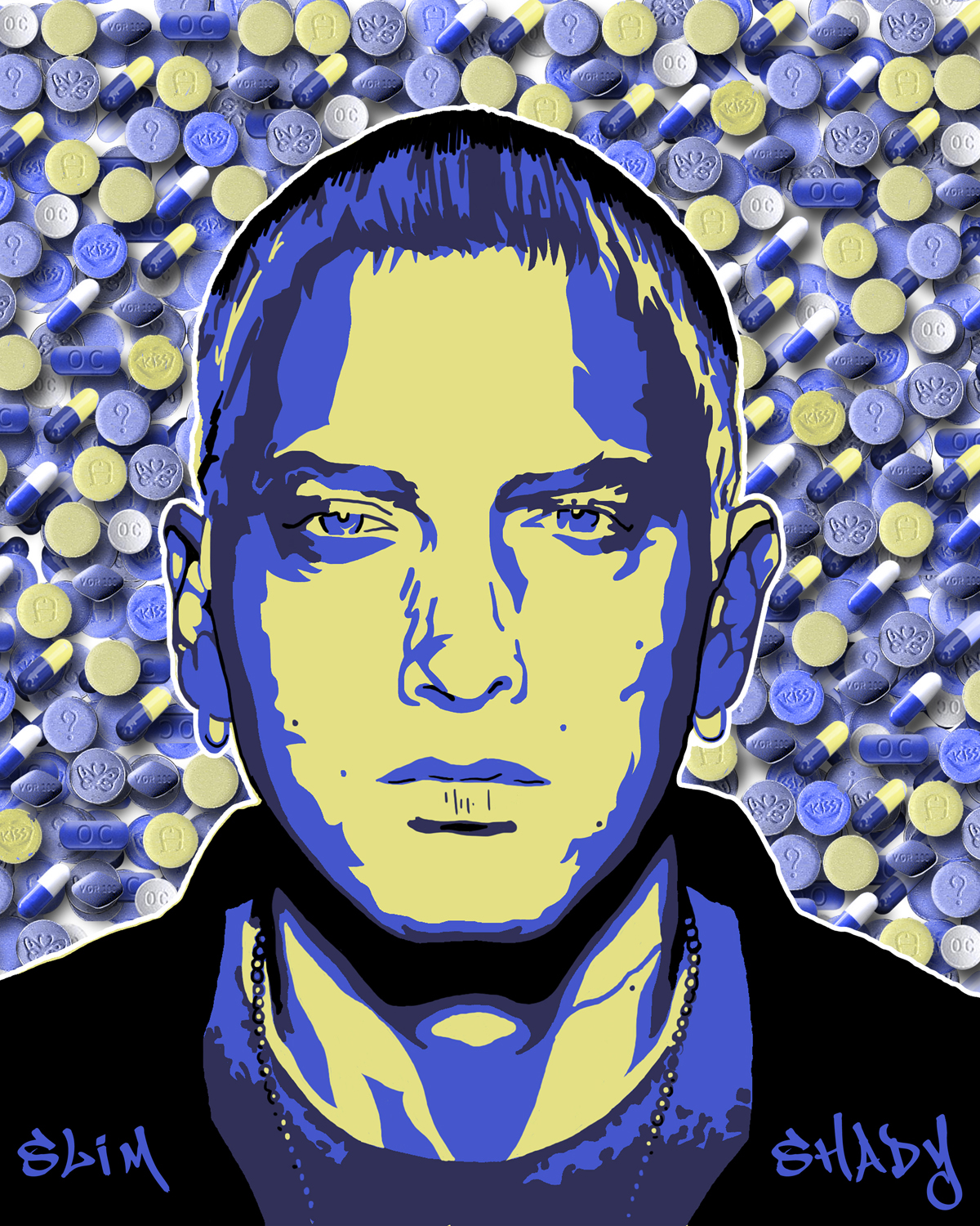 Slim Shady - Purple Pills - EMINEM Fan Art (23639871) - Fanpop