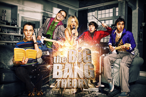 The Big Bang Theory wallpaper probably with a lectern, a bouquet, and a sign titled TBBT